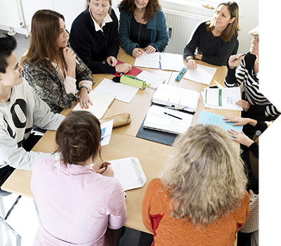 Ernæringsterapeut studerende gruppearbejde